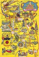 The Peak District Map Tideswell Bakewell Grindleford Derbyshire