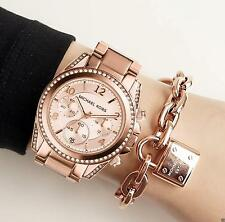 Original Michael Kors reloj fantastico mk5263 blair color: Rose oro cristal nuevo