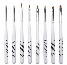 8Pcs UV Gel Acrylic Nail Tips Drawing Painting Nail Art Pen Brushes Tool Set