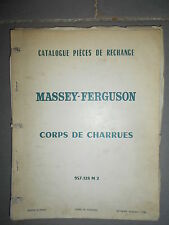 Massey Ferguson corps charrues : catalogue pièces 1968