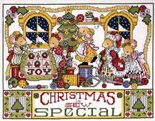 Cross Stitch Kit ~ Design Works Christmas is Sew Special Busy Mice #DW5444