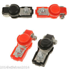Car Truck Van 6V/12V Battery Terminal Clamp Clips Connector Positive & Negative