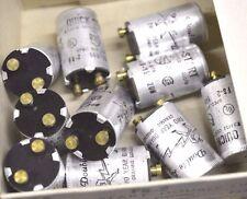 LOT of 10 FS-2 QUICK START Double Life FLUORESCENT STARTER 15-20 Watt NEW NOS