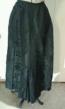 New listing Antique Victorian Nice Embroidered Cut Work Soutache Mourning Steampunk Skirt