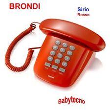 TELEFONO FILO SIRIO BRONDI ROSSO TRADIZIONALE TELECOM DESIGN VINTAGE Mute fisso