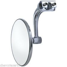 """3"""" Curved Arm Peep Side Door Frame Mirror Outside Rear View Hot Street Rat Rod"""