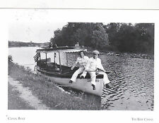 """*POSTCARD-""""2 Men Sitting on Edge of A Canal Boat""""   ...The Erie Canal (#69)"""
