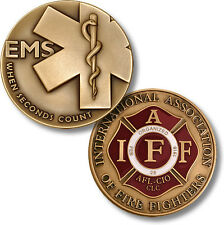 NEW Fire Fighter EMS When Seconds Count IAFF Challenge Coin. 91174.