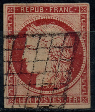 TIMBRE FRANCE Classique 1849 Type Cérès n°6 Oblitéré