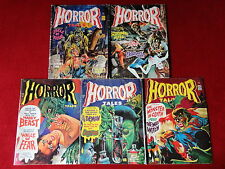 Lot of 5 Horror Tales Vintage Horror Comic Magazines Creepy Eerie Monsters Scary