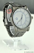 NWT Unisex Men Watch GUESS Pewter Stainless Steel Classic New G11920G1