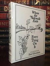 Where the Sidewalk Ends by Shel Silverstein New Sealed Illustrated Leather Bound