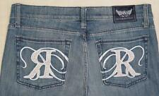 NEW w/ Tags ~ ROCK & REPUBLIC ~ STELLA Denim Blue Jeans sz 31 X 36L w/ FREE SHIP