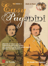 Easy Niccolo Paganini for Violin Sheet Music Book with CDs Position 1-3