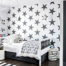 Wall Decal Star Set Small 12 Piece Damask Geometric Bedroom Nursery Kids M1455