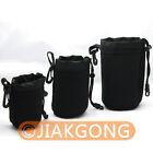 3pcs S M L Neoprene Lens Pouch Case SET 70x110 85x140 90x170 mm