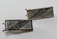 Vintage Silver Metal Small Hair Barrette Accessorie Pair 3