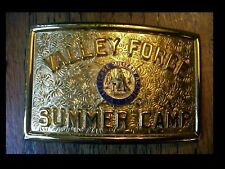 Vintage 60's Boy Scout Belt Buckle VALLEY FORGE SUMMER CAMP Military Academy