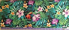 Hawaiian Tropical  Flowers Cotton Fabric (BY The Yard) Hibiscus, Orchids, Lily