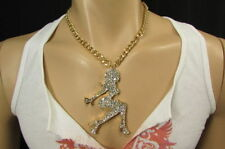 New Men Gangster Gold Necklace Chain Big Pendant Hip Pop Design Sexy Girl Urban