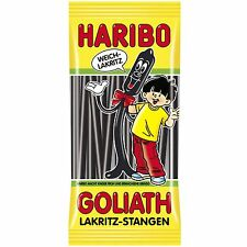 Made in Germany-Haribo Goliath licorice- gummy bears-125 g