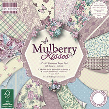 "MULBERRY KISSES - FIRST EDITION EDITION PAPERS - TASTER PACK OF 6""x6"" PAPERS"