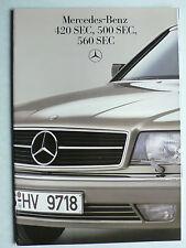 Prospekt Mercedes C 126 - 420 SEC, 500 SEC, 560 SEC, 8.1985, 36 Seiten