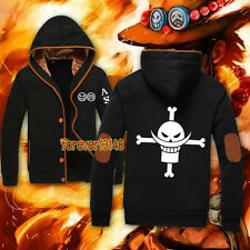 Anime One Piece Fire Fist Ace Stylish Jacket Sweatshirt Unisex Hoodie Coat#10-11