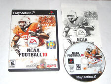 NCAA Football 10 Playstation 2 PS2 Game Complete Black Label 2009 2010