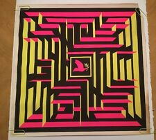 Dove Maze Vintage Poster Anti-War Peace Black Light 1960's Pin-up Puzzle Hipco