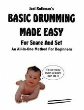 Basic Drumming Made Easy Teach Learn to Play Snare Book