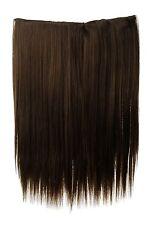 Haarteil breit Haarverlängerung 5 Clips glatt Braun Goldbraun 45cm L30173-10