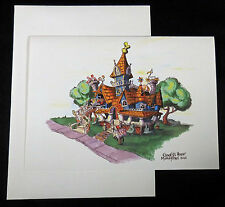 DISNEYLAND c2005 Frameable Artist Rendition Card, Goofy's Bounce House w/Env.
