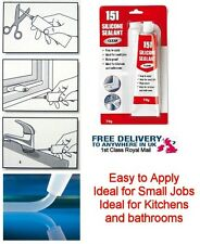 151 Clear Bath & Shower Basin Silicone Sealant 70g Mould Resistant 1st class pos