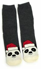 LADIES FESTIVE PANDA & PARTY HAT CHRISTMAS SOCKS UK 4-8 EUR 37-42 USA 6-10
