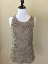 New with Tags: Women's Banana Republic Sleeveless Taupe Color Top Size Small