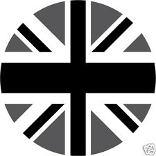 4 x sticker auto moto velo valise pc portable Rond Union Jack black 67mm