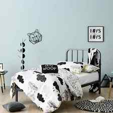 STORM CLOUDS BLACK WHITE QUEEN bed QUILT DOONA DUVET COVER SET NEW ADAIRS
