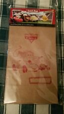 NIB World of Cars Brown Paper Lunch Insignia Square Bottom Bags Mater