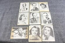 Vintage Original Lot of 9 Auquatoned Pictures Early Movie Stars Lamarr, Gaynor