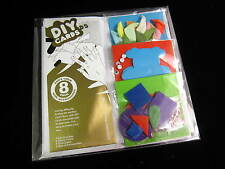 DIY card making craft kit set of 8 blank cards envelopes & bits Xmas christmas
