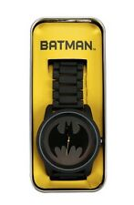 DC Comics Batman Logo Large Face Metal Band Strap Watch New In Collectors Tin!
