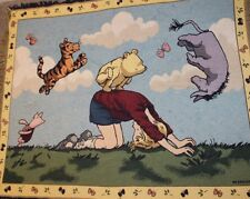 "Disney Winnie The Pooh Leapfrog Classic Tapestry Throw Blanket Woven ~ 48""x60"""