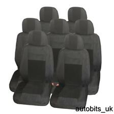 FULL SET PREMIUM BLACK 7X FABRIC SEAT COVERS FOR 7 SEATER TOYOTA VERSO LC V8