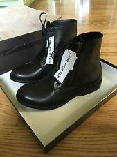 $1195 Bottega Veneta Mens Black Zip Boots, sz 41