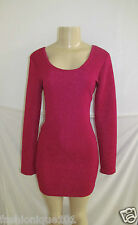 NWT BCBG GENERATION MAROON RED BODYCON SCOOP NECK DEEP SCOOP BACK DRESS SMALL