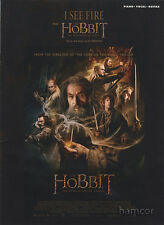 I See Fire from The Hobbit by Ed Sheeran Piano Vocal Guitar Sheet Music