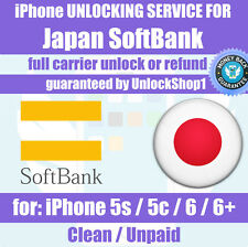 Premium Unlock service Japan SoftBank iPhone 5 5s 5c 6 6+ Unlocking
