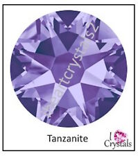 TANZANITE Purple Swarovski 34ss 7mm 2058 Crystal Flatback Rhinestones 12 pieces