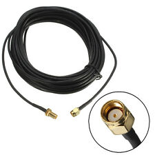 9m RP-SMA Male to Female Jack Wifi Antenna Extension Cable Lead Wire Gold Plated